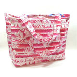 extra large pink beach bag