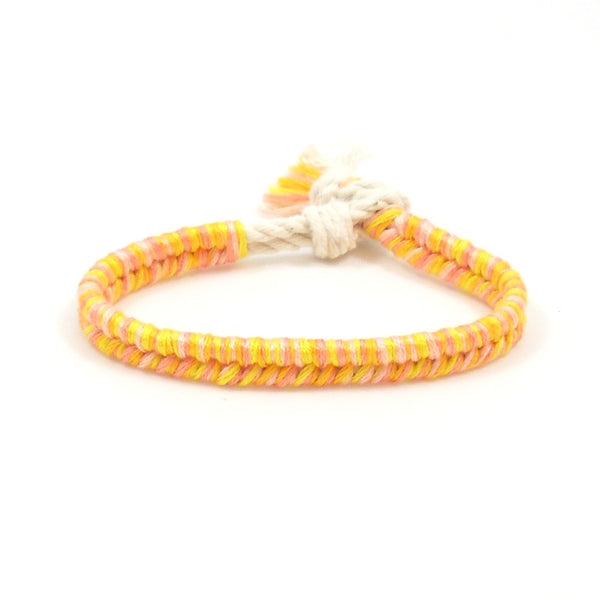 pink grapefruit summer beach bracelet