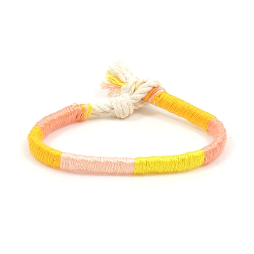 pink grapefruit summer bracelets