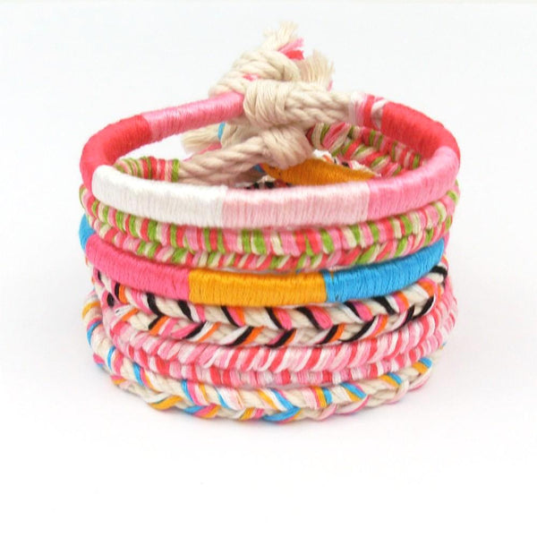 Caribbean Punch Braided Beach Bracelet