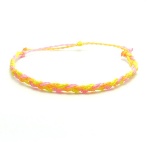 pink twist waterproof bracelet