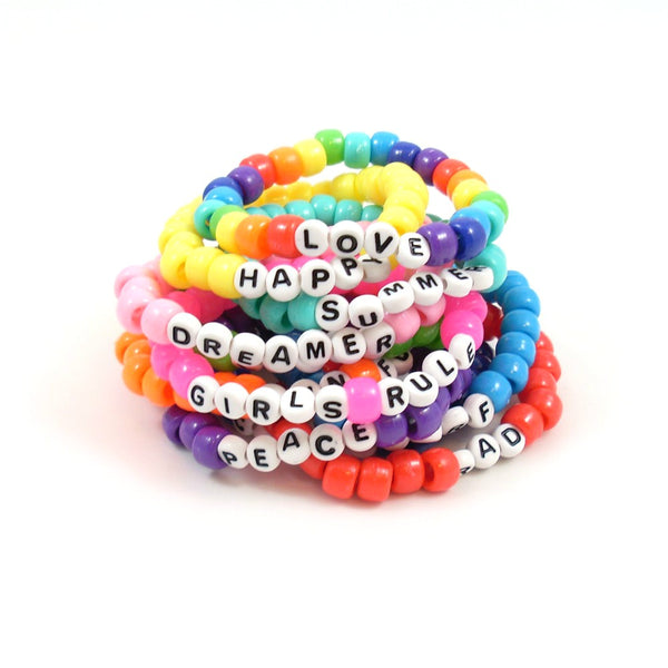 pony bead summer bracelets