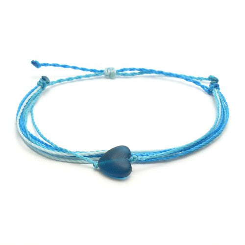 dark blue heart bracelet