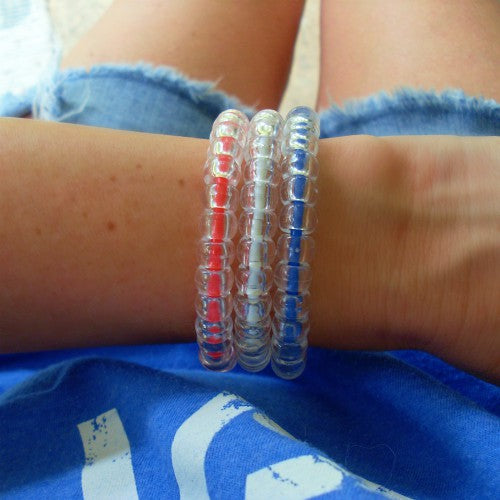 4th of July Clear Color Bracelets
