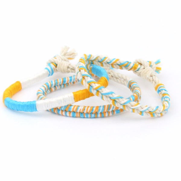 Sarasota Sunset SeaKnot Bracelet Stack - Set of 3 Bracelets