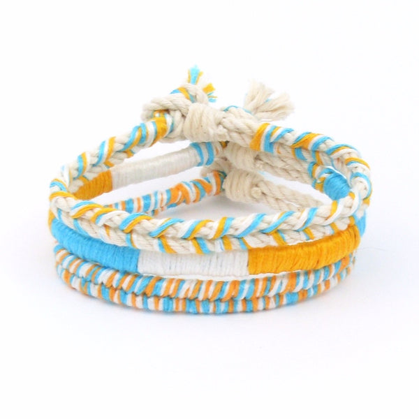 sarasota beach bracelets set of three