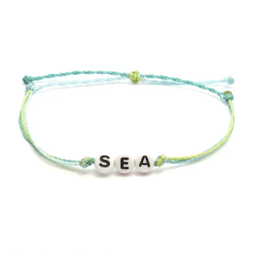 sea breeze custom word bracelet