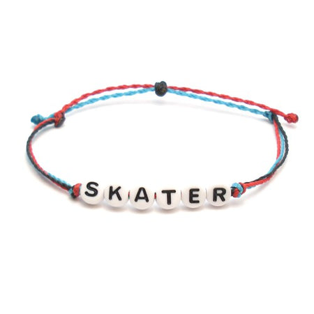 Skater Girl Braided Wax Bracelet