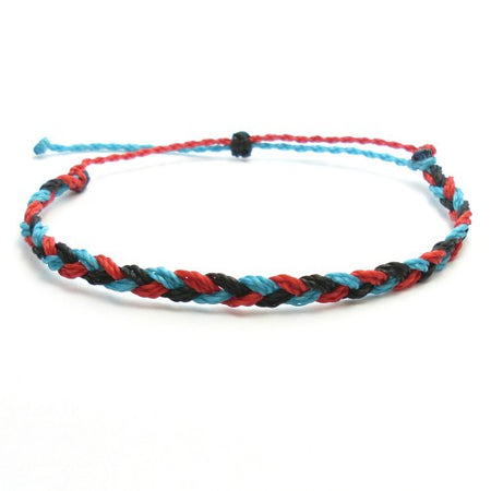 Vibe On Braided Wax Bracelet