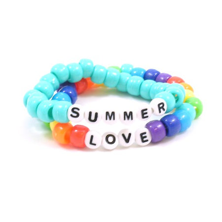 Love is Love Rainbow Pony Bead Bracelets