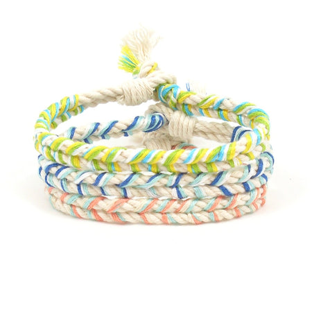 Sweet Pink Braided Beach Bracelets