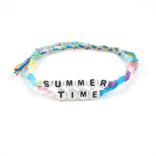 summertime word bracelet