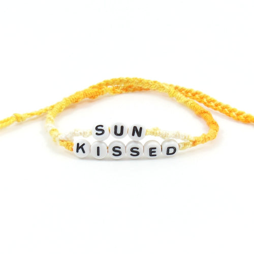 yellow sunkissed word bracelet