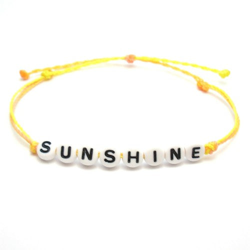 sunshine word bracelet