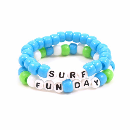 Girls Rule Pony Bead Word Bracelets Pack