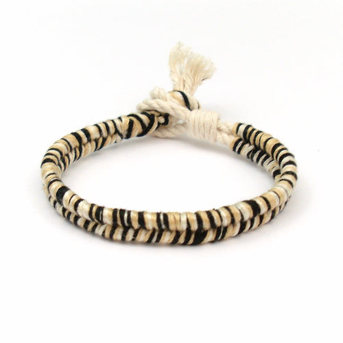 black and tan beach bracelet