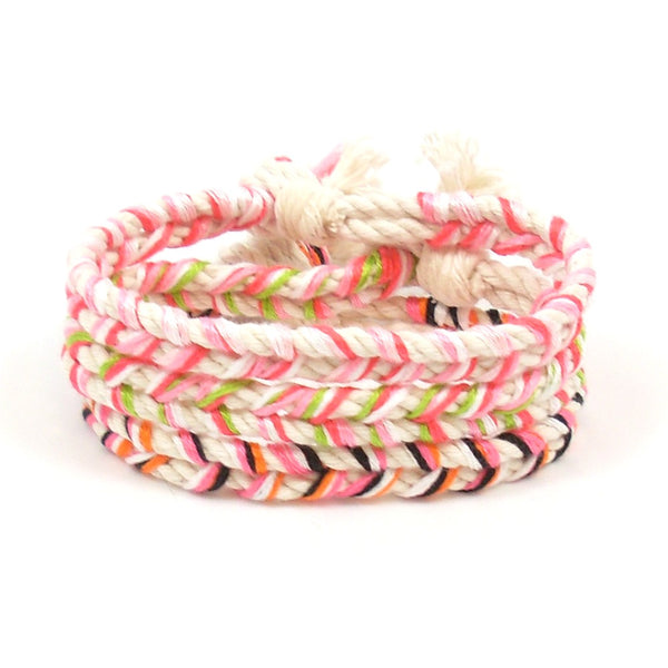 sweet pink beach bracelet stack