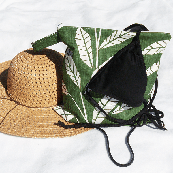 tropical bathing suit wet bag