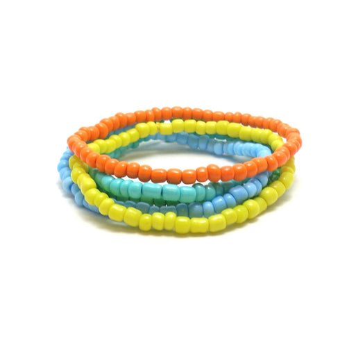 tropical seed bead bracelets