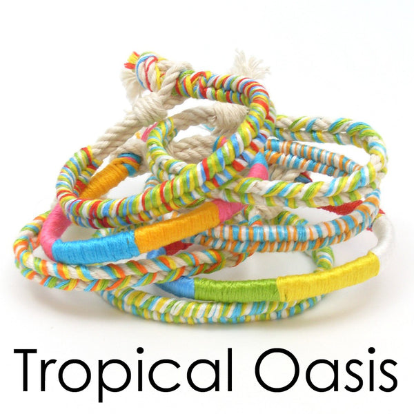 10 pack of tropical boho bracelets