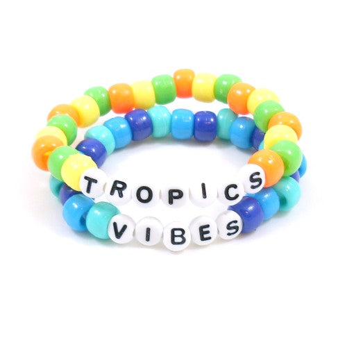tropical vibes summer bracelet
