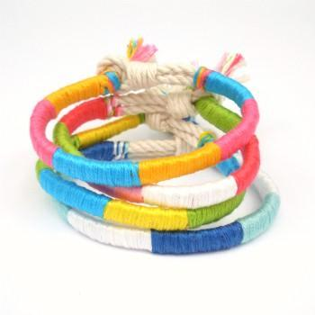 Caribbean Punch Twisted Beach Bracelet
