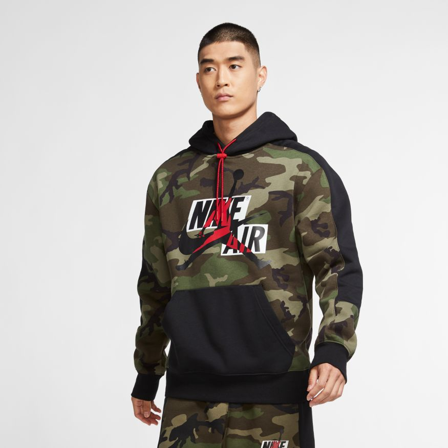 Men's Jordan Jumpman Classics Camo Fleece Pullover