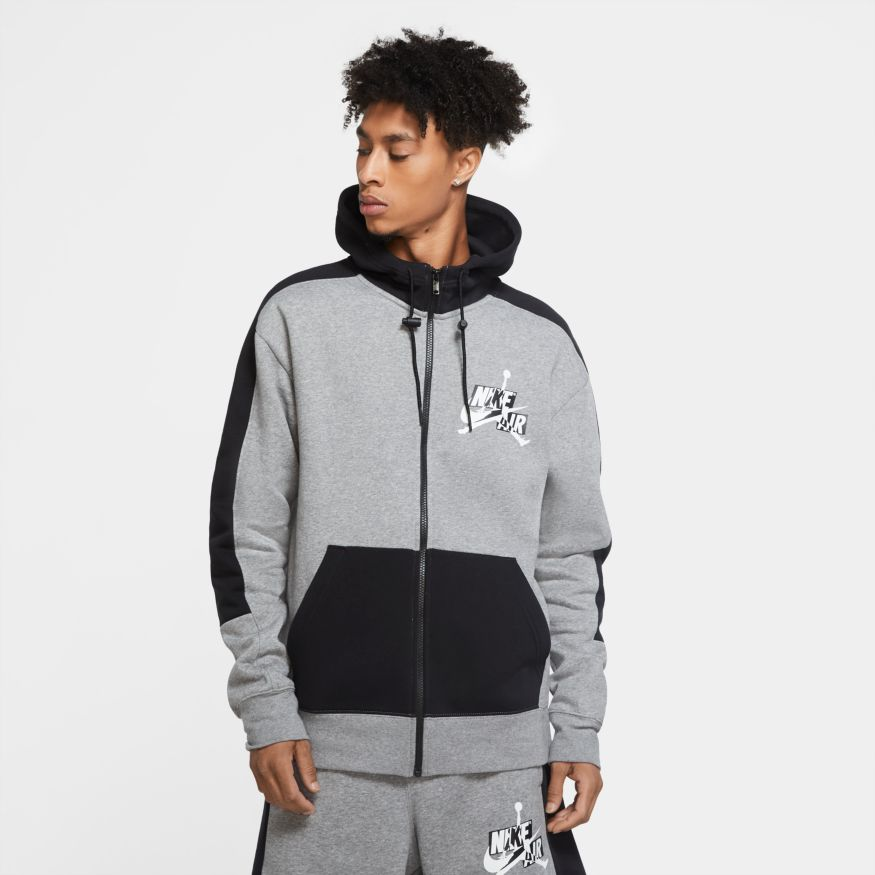 Men's Jordan Jump man Classics Full-Zip Fleece Hoodie