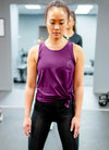 THE CLOSET INC TANK TOP PURPLE