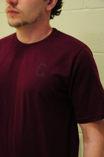 THE CLOSET INC Men Basic T-Shirts – BURGUNDY WITH CLEAR C