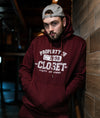 THE CLOSET INC Mens Fleece Pull Over – BURGUNDY
