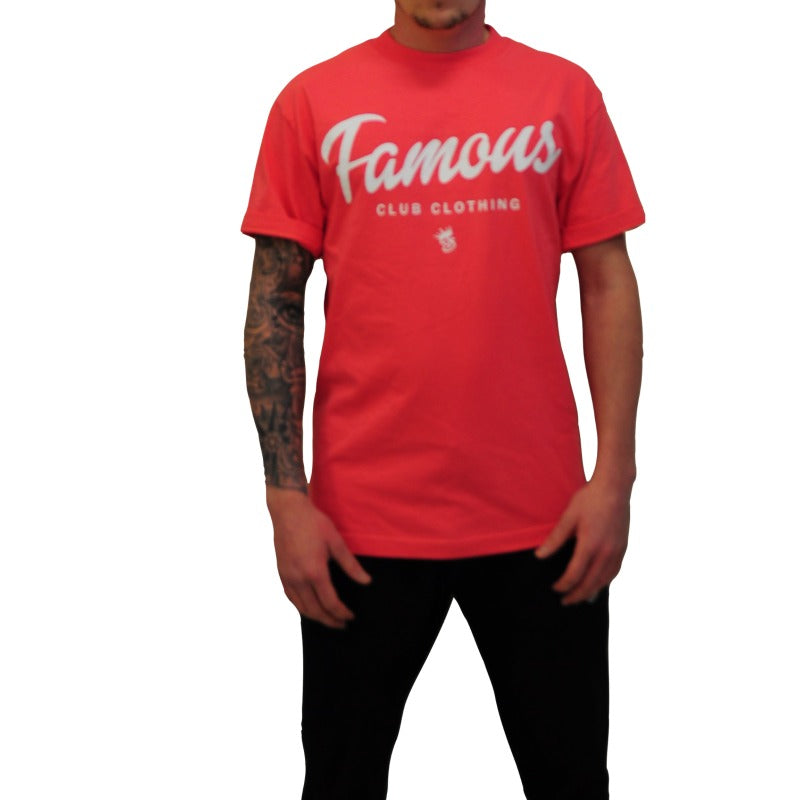 FAMOUS CLUB CLOTHING (SALMON & WHITE)