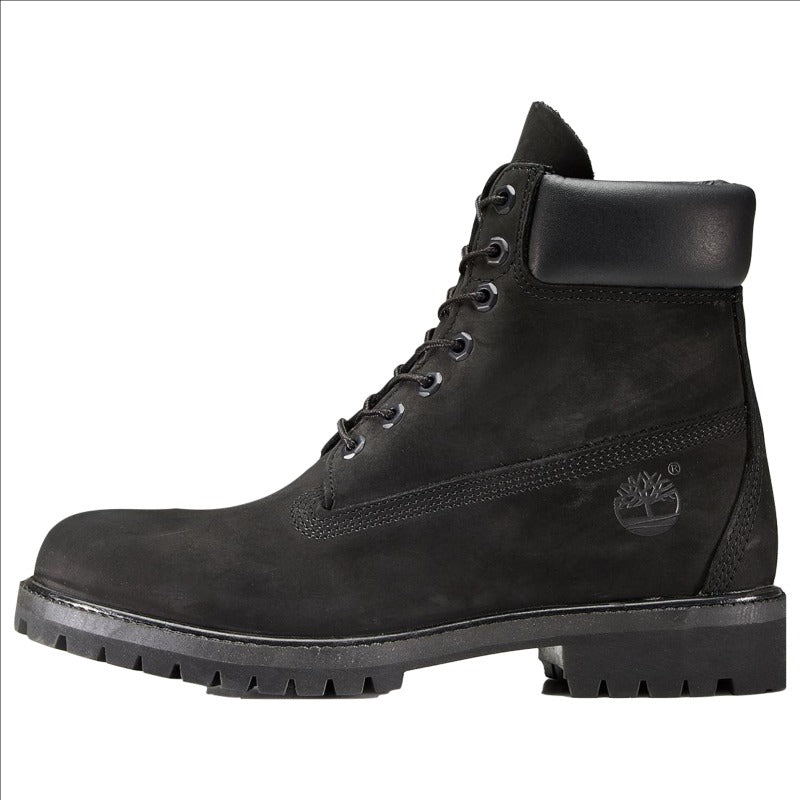 "TIMBERLAND MEN'S PREMIUM 6"" WATERPROOF BOOT BLACK NUBUCK"