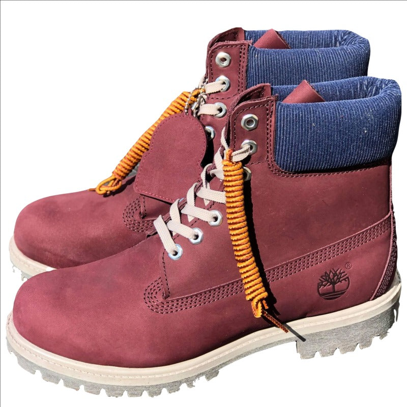 Men's Premium waterproof Timberland Boot Burgundy Nubuck