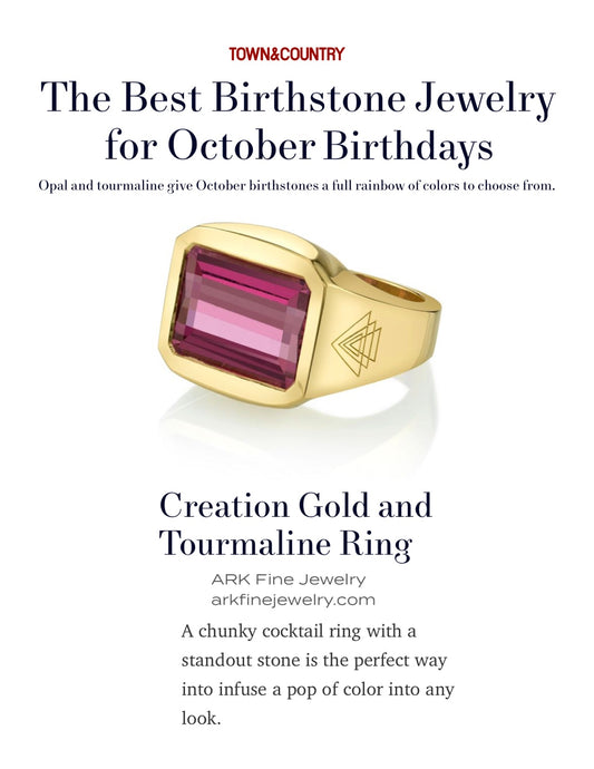 Town and Country Magazine - The Best Birthstone Jewelry for October Birthdays