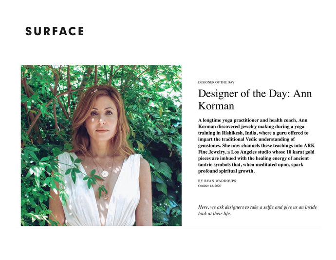 Designer of the Day in Surface Magazine