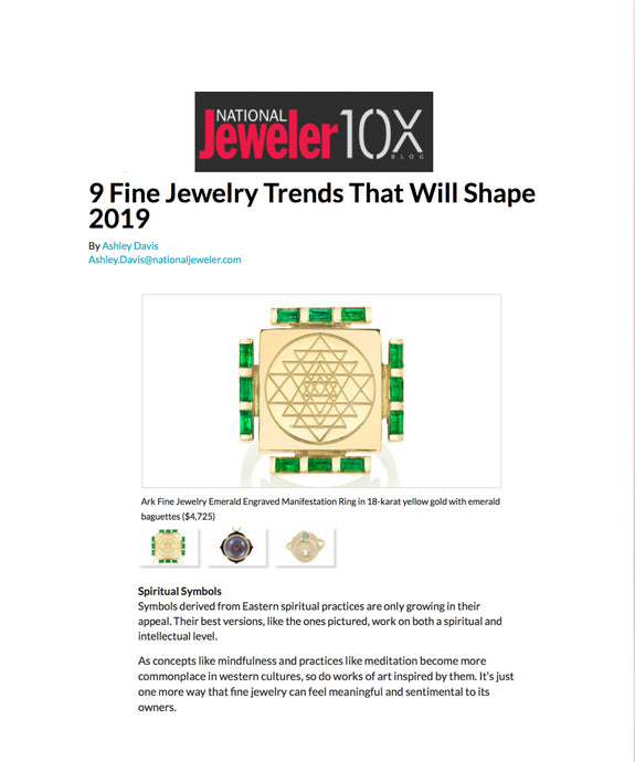 National Jeweler : 9 Fine Jewelry Trends That Will Shape 2019