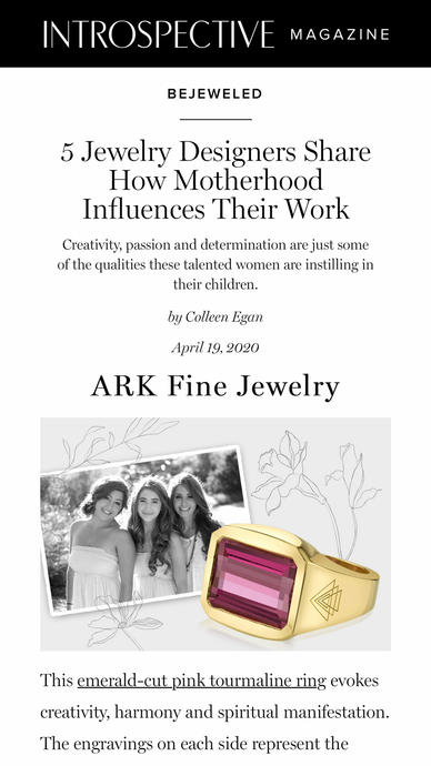 Emerald-Cut Pink Tourmaline Creation Ring featured in 1stdibs, Introspective Magazine