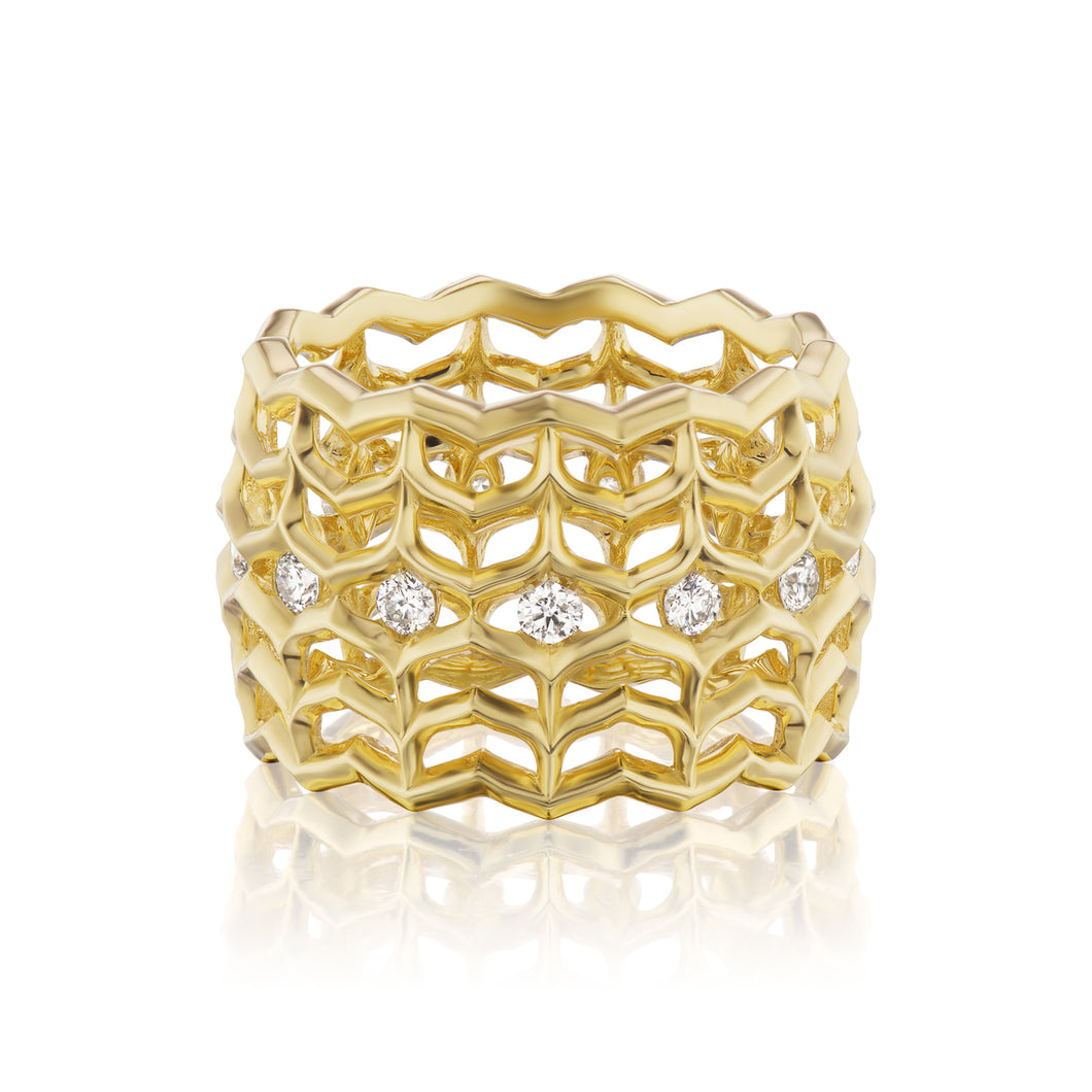 Dreamscapes Diamond Woven Ring