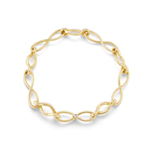 Load image into Gallery viewer, Handmade Infinity Gold Link Bracelet with Diamonds