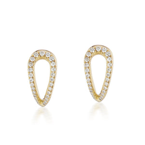 Diamond Infinity Gold Huggie Earrings