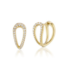 Load image into Gallery viewer, Diamond Infinity Gold Huggie Earrings