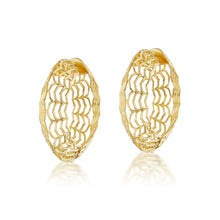 Load image into Gallery viewer, Dreamweaver Gold Hoop Earrings