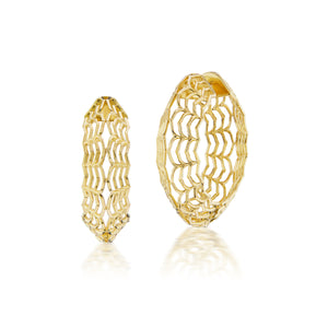 Dreamscapes Gold Hoop Earrings