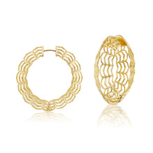 Load image into Gallery viewer, Dreamscapes Gold Hoop Earrings