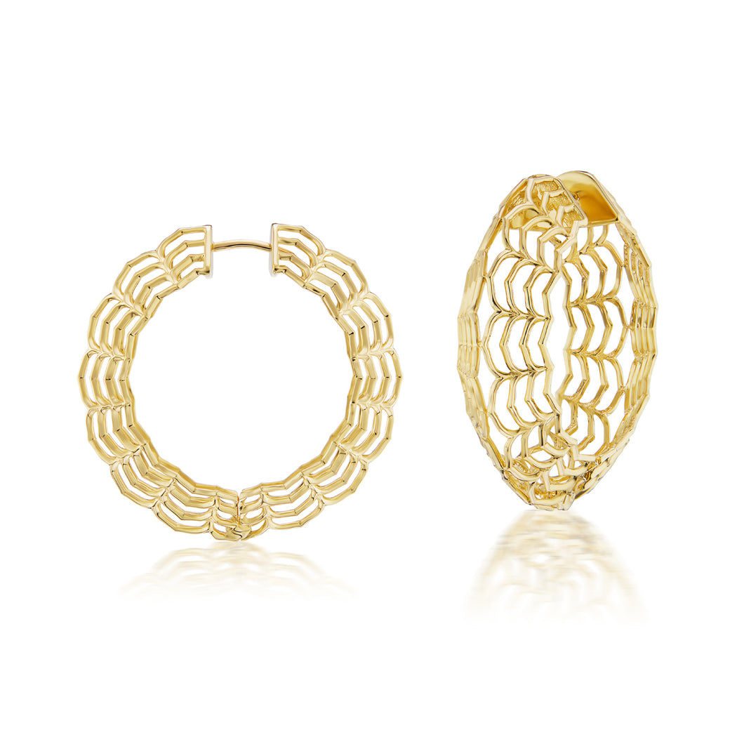 Dreamweaver Gold Hoop Earrings