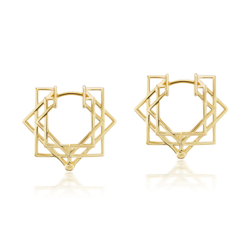 Shakti Huggie Gold Earrings