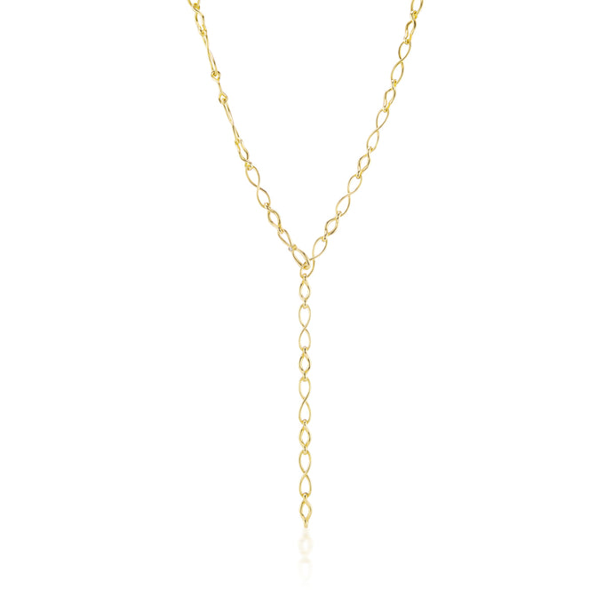 18 Karat Gold Infinity Elements Handmade Necklace with Diamond Infinity Clasp