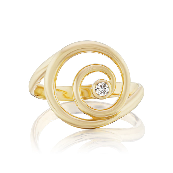 Gold and Diamond Destiny Ring