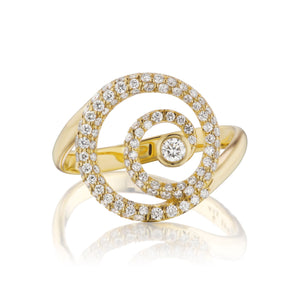 Destiny Gold Diamond Encrusted Ring